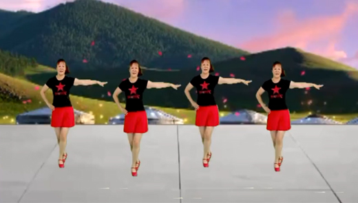 红领巾广场舞精选:《心上的情哥爱着我》