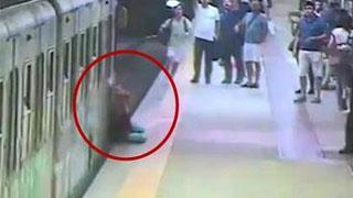 女子被地铁拖行画面惊悚