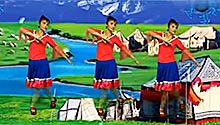 荷花阿萍广场舞:彩色的腰带