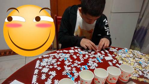 挑战拼一千块的滑稽拼图!