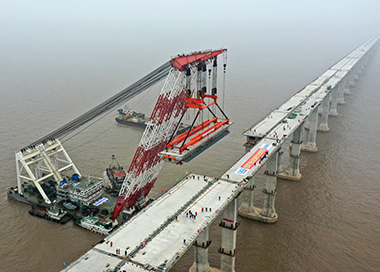 舟岱大桥实现主线贯通 2021年底建成通车