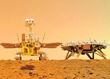 火星车与着陆平台合影 怎么拍的?